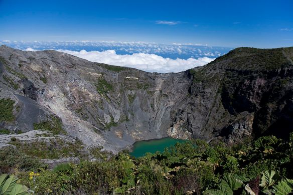A view of the crater