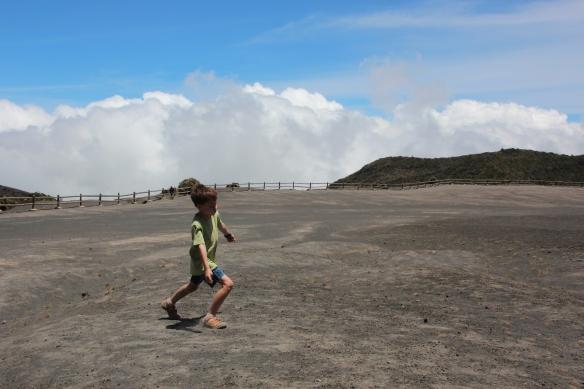 Peter walking purposefully