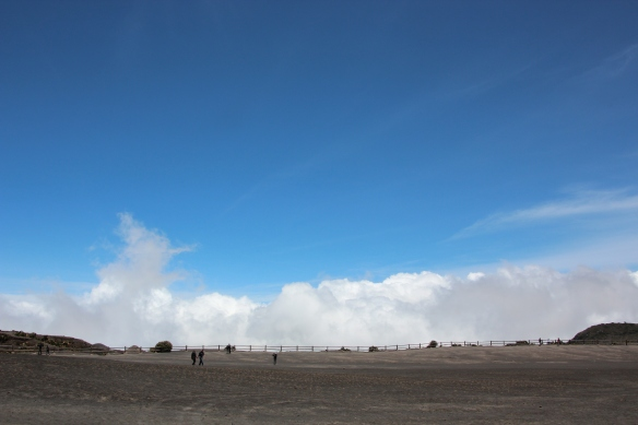 The clouds were just below us on the other side of the volcanos rim.