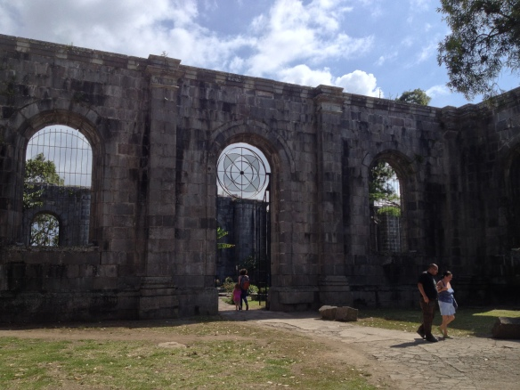 The ruins of the church in Cartago