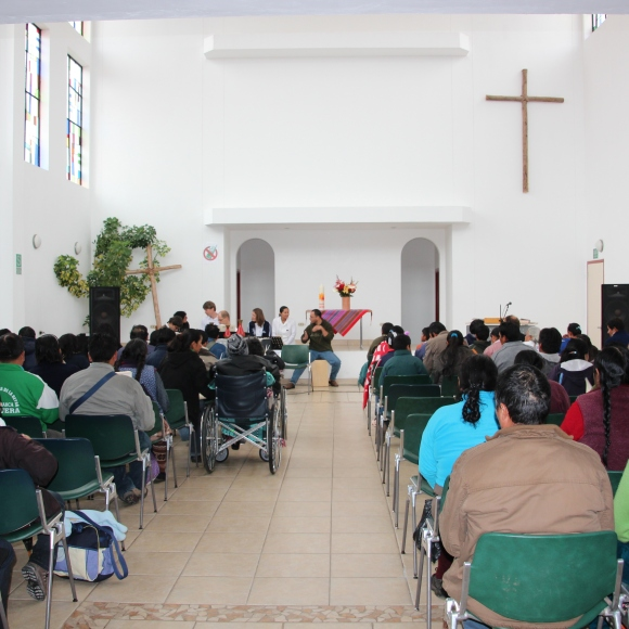 Every day there is a chapel service in the hospital before the clinics open.