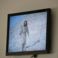 The Jesus film is shown in the hospital waiting room every day.