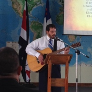 Paul spoke of his experience during language school and sang a song the summed up the year.