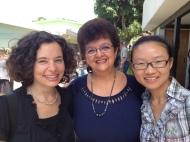 Allison with one of her teacher, Alejandra and her classmate Gabi.