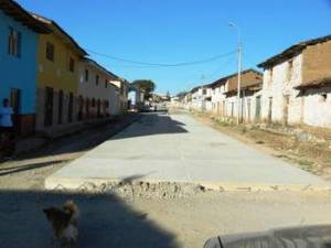 An unfinished street in Curahuasi.  Public funds wasted.