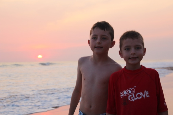 My first two homeschooling students.  This is a Costa Rica recess!