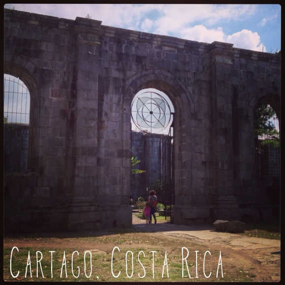 Cartago is a small city near San Jose. It is only about 30 minutes by car from where we live. I took some pictures of a large church abandoned during construction because they kept having earthquakes that would knock it down. Now it is a beautiful city park.