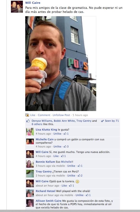 A Facebook Conversation