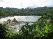 Looking over the beach at Manuel Antonio