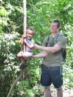 A young Tarzan