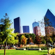 The Dallas, TX Skyline.