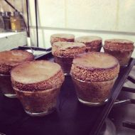 Allison and Peter capped the weekend on Sunday night by making us all chocolate soufflés.