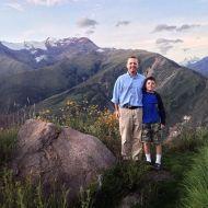 David and I posing at the top of Rumi Capitan.