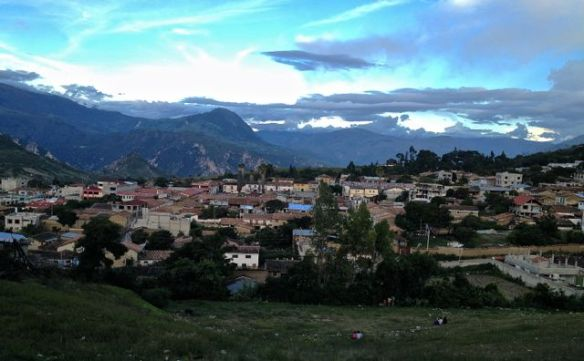 View of Curahuasi while walking from Ayaurco, the little community in which we live.