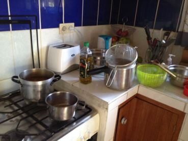 Pots and pans after soup making