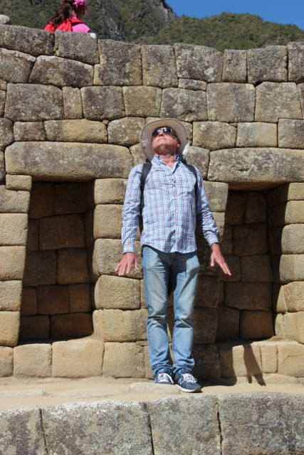 Some have a more spiritual experience than others at old Inca Ruins.