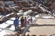 The salt mines of Maras. Benjamin was always way ahead of us, leading the way.