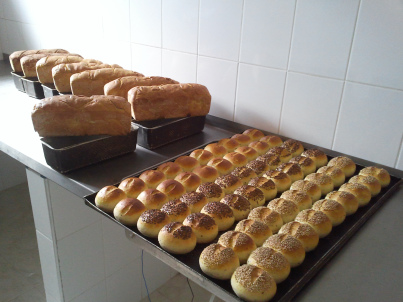 Some of the bread that Konika has made.  The picture is from their blog.