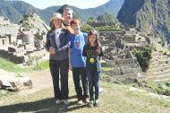 The Reids enjoying Machu Picchu.