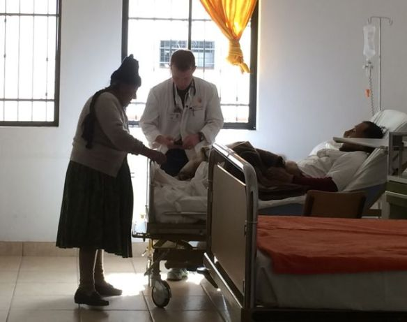 Examining a patient while his Quechua wife makes sure I notice something she finds very important about his toenails.