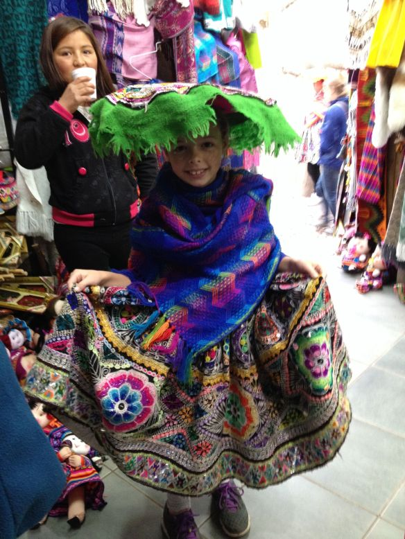 Annie in all her Quechua glory!