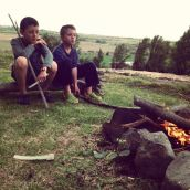Boys and fires go together.