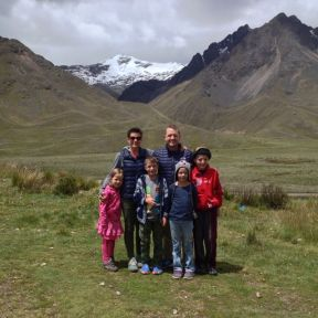 At 14,000 feet with mountains still towering above us.