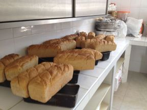 These are the German loaves, all ready to be picked up.