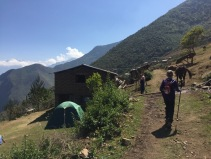 Finally reached the campsite after a full day of uphill hiking