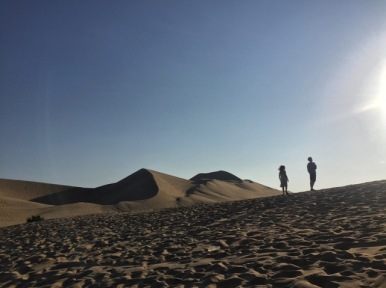 On the sand dunes of Huacachina