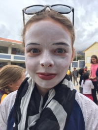 Annie with mime paint