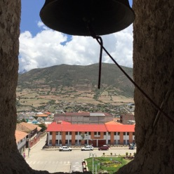 This is the view from the bell tower in the town plaza.