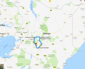A big loop around southern central Kenya