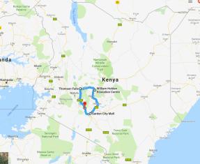 A big loop around southern central Kenya